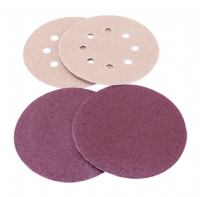 100mm/115mm Diameter hook & loop  backed sanding discs.